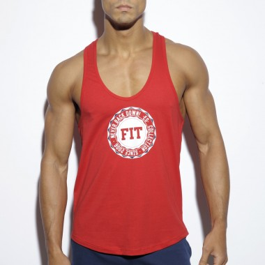 TS170 FITNESS BADGE PLAIN TANK TOP